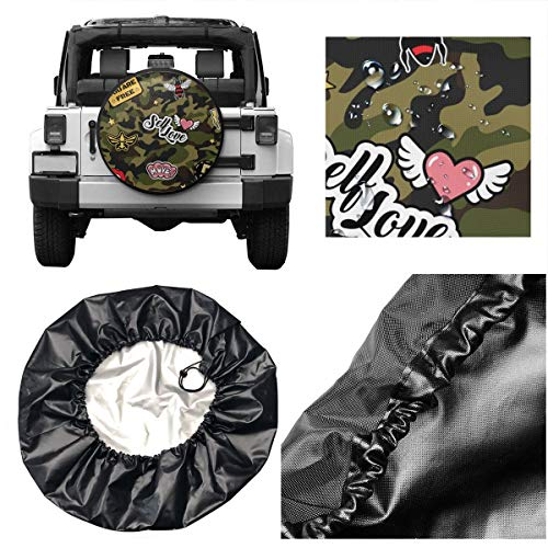Wheel Covers Sun Protector Waterproof 16 Inch for Diameter 29-31 Delerain Red Birds Blooming Cherry Spare Tire Covers for RV Jeep Trailer SUV Truck and Many Vehicle