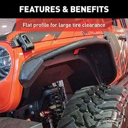 ARIES Black Aluminum Front Jeep Wrangler JL Fender Flares