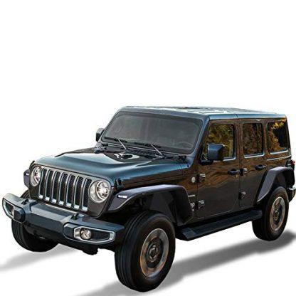 Black Horse Off Road Matte Black Jeep JL Tubular Fender Flares