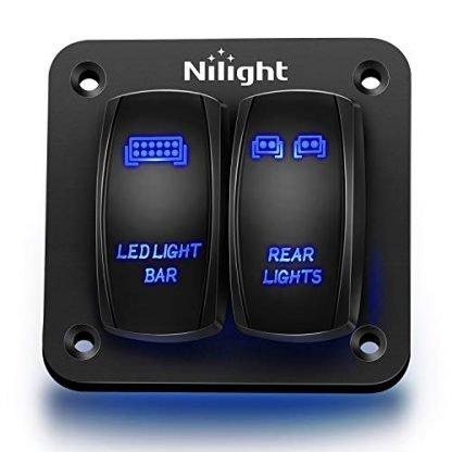 Nilight LED Light Bar Rocker Switch Panel