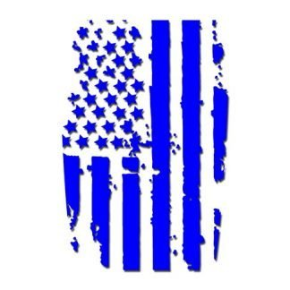 Blue American Flag Hood Blackout Graphic Decal